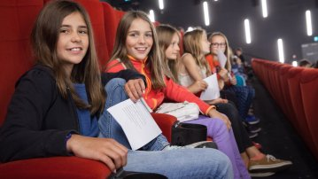 Young Fantoche visitors at the cinema
