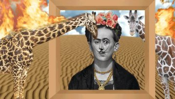 Dalí-Frida and the Hot Giraffes, Juan Ibanez, ES 2017